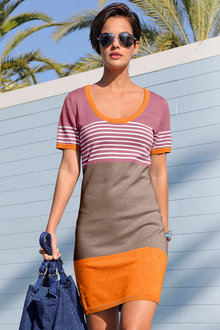 Euro Edit Stripe Dress