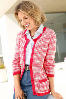 Capture European Button Front Cardigan