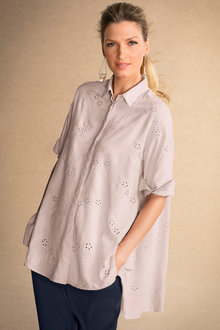 Grace Hill Broderie Swing Shirt - 187770