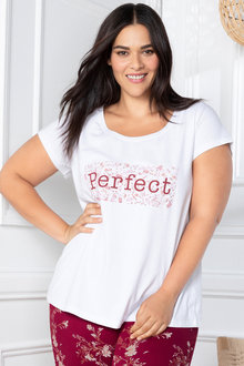 Plus Size - Sara Short Sleeve Scoop Neck Tee 7ac9901c5
