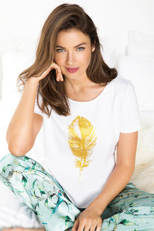 Mia Lucce Feather Tee