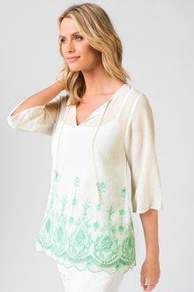 Capture Embroidered Tunic - 187844