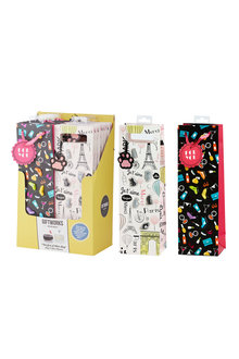 Giftworks Wine Bags and Glass Markers Set of 2