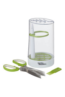 Davis and Waddell Herb Storage Canister and Shears Set