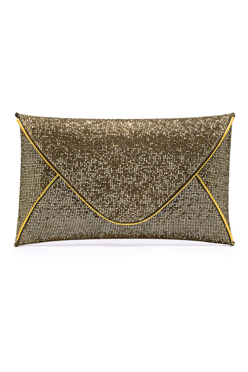 Together Gold Glitter Clutch