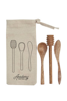 Academy Set of 3 Mini Utensils in Pouch