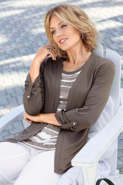 Capture European Knit Jersey Cardigan