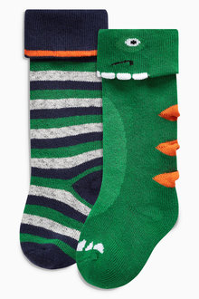 Next Dino Welly Socks Two Pack (Younger Boys)