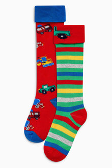 Next Transport Welly Socks Two Pack (Younger Boys)