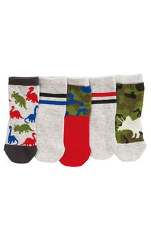 Next Glow In The Dark Dino Socks Five Pack (Younger Boys)