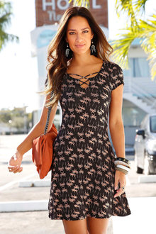 Urban Printed Knit Dress