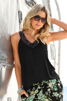 Urban Lace Detail Top - 188009