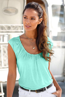 Urban Pleat Neck Top
