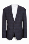 Next Signature Check Slim Fit Suit: Jacket