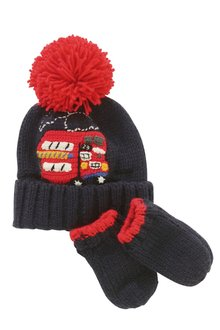 Next London Bus Hat/Gloves Set (Younger Boys)