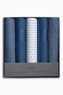 Next Printed Handkerchiefs Five Pack - 188288