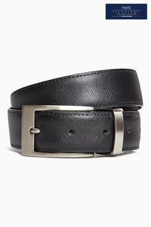 Next Signature Reversible Leather Textured Belt