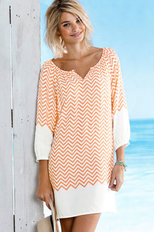 Urban Chevron Tunic Dress - 188314