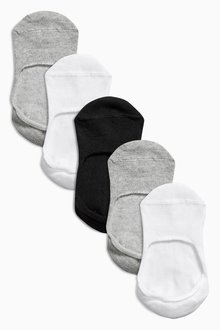 Next Invisible Trainer Socks Five Pack (Older Boys)