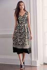 Next Striped Midi Dress - Petite