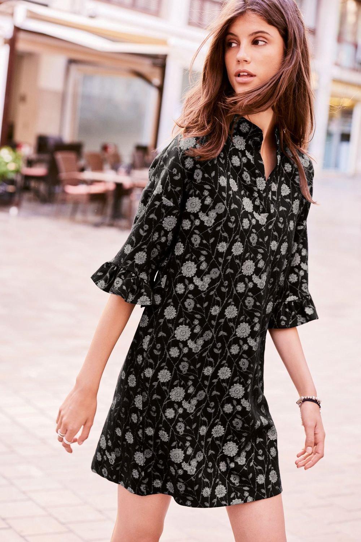 786133f6b Next Floral Jacquard Dress - Petite Online | Shop EziBuy