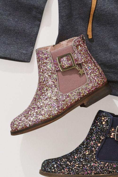 Next Glitter Chelsea Boots (Younger Girls)