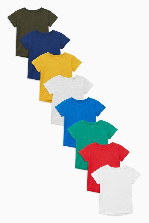 Next Short Sleeve Essential T-Shirts Eight Pack (3mths-6yrs)