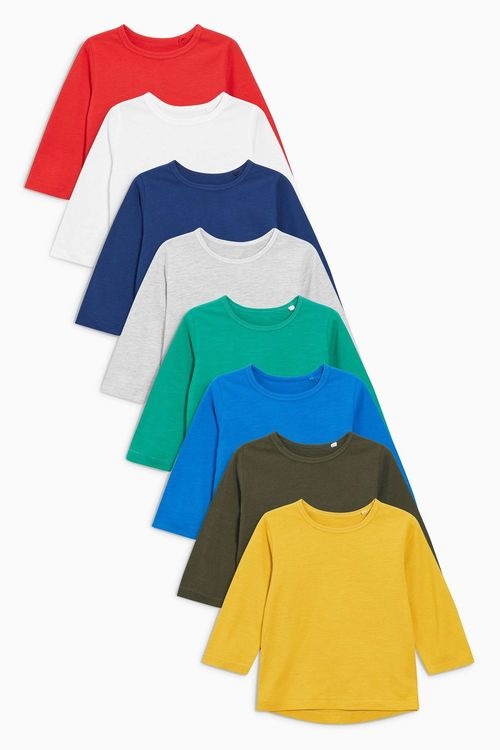 Next Long Sleeve Essential T-Shirts Eight Pack (3mths-6yrs)