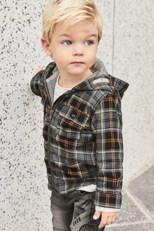 Next Check Hooded Shacket (3mths-6yrs)