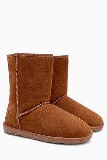 Next Faux Fur Suede Boots