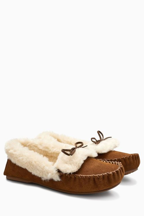 Next Suede Moccasin Slippers
