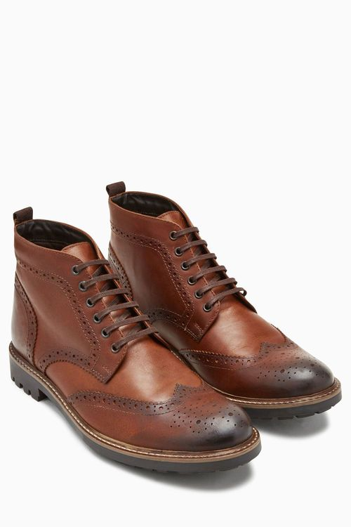 Next Brogue Cleat Boot