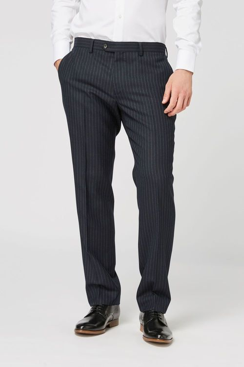 Next British Wool Striped Tailored Fit Suit: Trousers