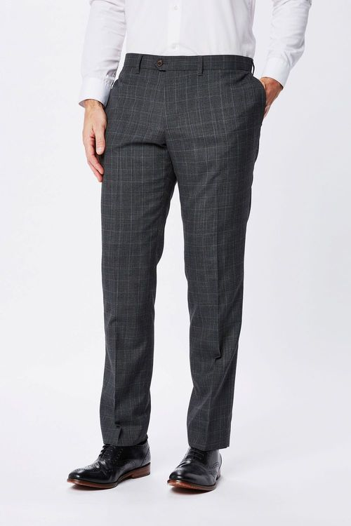 Next Check Wool Trousers - Slim Fit