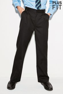 Next Pleat Trousers (3-16yrs) - Plus Fit