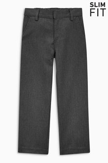 Next Flat Front Trousers (3-16yrs) -Slim Fit - 189326