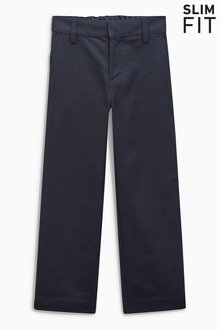 Next Flat Front Slim Fit Trousers (3-16yrs) - 189354
