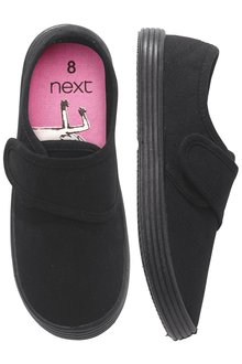 Next Strap Plimsolls (Older Girls)