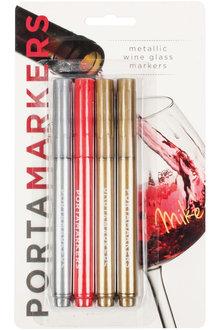 Porta-Markers 4pk Metallic Glass Markers