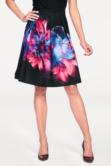 Heine Printed Flared Skirt