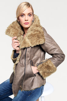 Heine Faux Fur Lined Jacket