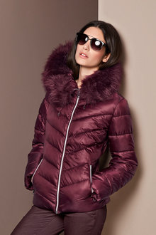 Heine Faux Fur Hooded Jacket
