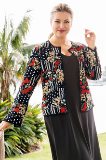 Plus Size - Sara Boxy Statement Jacket