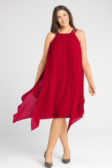 Plus Size - Sara Layered Beaded Dress
