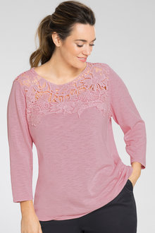 Plus Size - Sara Lace Trim Sweater