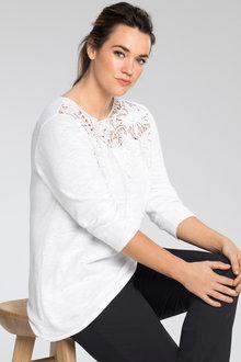 Sara Lace Trim Sweater - 189734