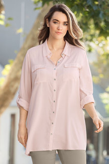 Plus Size - Sara Soft Utility Shirt