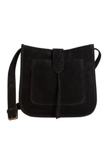 Suede Saddle Bag