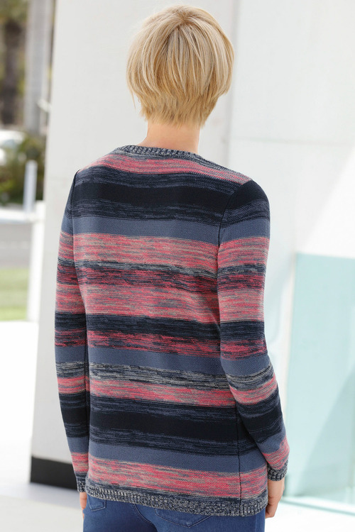 Capture European Stripe Knit Jumper