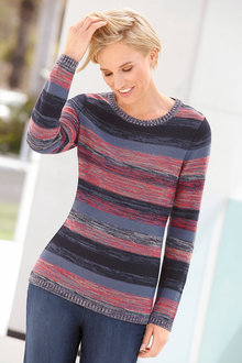 Capture European Stripe Knit Jumper